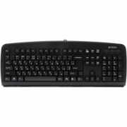 A4Tech keyboard KB-720 EN/RUS, PS2 A4Tech Keyboard layout EN/RU, Black  4,00