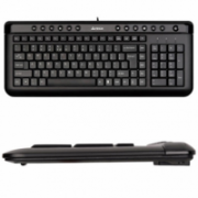 A4Tech Keyboard KL40, slim,  multimedia, wired, Keyboard layout EN/RU, black, USB  12,00