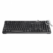A4Tech keyboard KR-750, USB (Black) (US+RU), Rounded Edge Keycaps A4Tech Keyboard, Keyboard layout US+RU, USB  11,00
