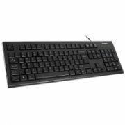 A4Tech Keyboard KR-85, Comfort rounded edge keycaps, laser inscribed keys, Standard, Wired, Keyboard layout EN/LT  11,00