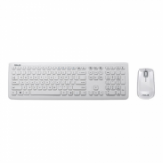 Asus W3000 Keyboard and mouse set, English (Qwerty) layout with numeric pad, White, Yes, 680 g  35,00