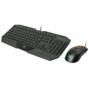 Aula SI-2023 + SI-9013 Combo Altar Keyboard+Rigel Optical Mouse, Gaming, EN/RU, Membrane, RGB LED light Yes (6 colors), Wired, Black  24,00
