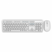 Dell KM636 Standard, Wireless, Keyboard layout EN, White, Mouse included, US International, Numeric keypad  31,00