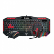 Gamdias Poseidon M1 Combo ARES M1 Gaming keyboard 7 colors+ZEUS E2 Optical gaming mouse+EROS E1 Stereo gaming headset, Gaming, US, Membrane, RGB LED light Yes (7 colors), Wired, Black  58,00