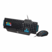 Gembird KBS-UMG-01 Wired, No, No, USB gaming set - keyboard and mouse, US layout, Black  16,00