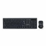 Gembird Keyboard and mouse KBS-WM-03-RU Desktop set, Wireless, Keyboard layout RU, Black  14,00