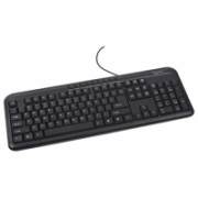 Gembird keyboard KB-M-101-RU Multimedia keyboard, PS/2, RU layout, black Gembird Multimedia, Wired, Keyboard layout EN  9,00