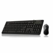 Gigabyte Keyboard and mouse set Standard, Wired, Keyboard layout EN, 1.5 m m, black  15,00