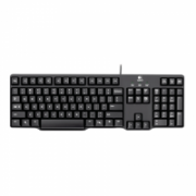 Logitech K100 Multimedia, Keyboard layout EN/RU, Black, Russian, Numeric keypad, PS/2  13,00