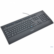 Logitech K280e Multimedia, Keyboard layout EN, 1,6 m m, USB, Black, US International, Numeric keypad, 930 g  27,00