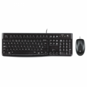 Logitech LGT-MK120-US Keyboard and Mouse, Keyboard layout QWERTY, USB Port, Black, Mouse included, International EER  23,00