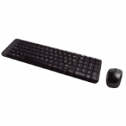 Logitech MK220 Wireless Keyboard And Mouse, English/Russian, Black, Yes, Russian, USb Mini reciever  25,00