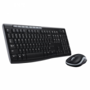 Logitech MK270 Wireless Keyboard and mouse pack, Keyboard layout QWERTY, USB, Black, Mouse included, Russian, Numeric keypad  35,00