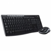 Logitech MK270 Wireless Keyboard+Mouse, Black, Silver, Mouse included, English, Numeric keypad, USB  38,00