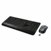 Logitech MK520 Wireless Keyboard and Mouse, Keyboard layout Russian, Black, Mouse included, Russian, Numeric keypad, USB port  67,00