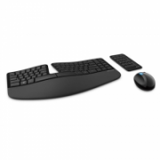 Microsoft L5V-00009 Sculpt Ergonomic Desktop Multimedia, Wireless, Keyboard layout DK, Black, Mouse included, Danish, Numeric keypad, 842 oz  105,00
