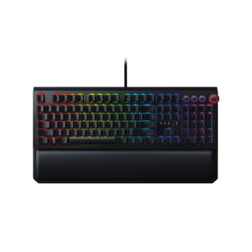 Razer BlackWidow Elite (Yellow Switch), Gaming, Nordic, Wired, RGB LED light Yes, USB 2.0 and audio pass through, Keyboard, Black