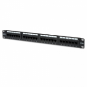 """Logilink Digitus, Pach panel cat5, 24 ports, unshielded ISO / IEC 11801 and EN 50173 RJ45 sockets, 8P8C Cable installation via LSA strips, color codes based on EIA / TIA 568 A & B Suitable for 483mm (19 """") rack mount Housing material: SECC, 1.5mm galv  16,00"""