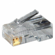 Logilink MP0002 CAT5e Modular PlugSuitable for 8P8C Round CablePlug unshieldedGold-plated contacts, Transparent  6,00