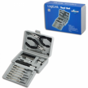 Logilink Tool Set, 25pcs Incl. transport boxThe set includes6x micro screwdrivers1x micro cutter1x mini telephone plier1x bit screwdriver with extension10x bits (PH1, PH2, PZ1, PZ2, PZ5, PZ6, T10, T15, T20, adaptor)4x socket wrench (5mm, 6mm, 8mm, 10mm)1x  10,00