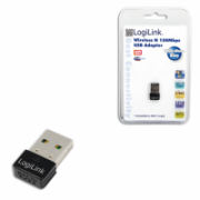 Logilink Wireless N150 Mbps, USB Adapter, Ultra Nano Size  10,00