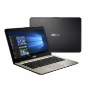 "Asus VivoBook X441NA Chocolate Black, 14 "", HD, 1366 x 768 pixels, Gloss, Intel Celeron, N3450, 4 GB, DDR3 on board, SSD 128 GB, Intel HD, Without ODD, Endless OS, 802.11 ac, Bluetooth version 4.0, Keyboard language English, Russian, Warranty 36 month(s),  299,00"