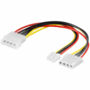 Goobay 50686 PC Y power cable/adapter (5.25 inch); 1x male to 1xfemale (3.5 mm) and 1x female (5.25 inch)  3,00