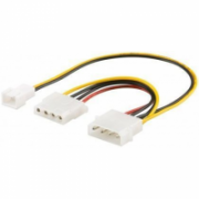 Goobay 96118 PC Y power cable/adapter; 5.25 inch male to 1x 5.25inch female and 1x 2-pin fan (12 V) 0.25m  3,00