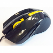 Super power Optical Gaming Mouse 52, 4 butons,  black /yelow, righthand,  2400 dpi, USB Super power wired  6,00