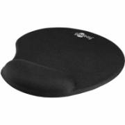 Goobay Mousepad with Gel Wrist Rest Support Black, Ergonomic mouse pad, Rubber, fabric, 200 x 230 x 20 mm  7,00