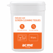 ACME CL01 Delicate screen cleaning tissues, 50 pcs, wet  4,00