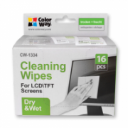 ColorWay CW-1334 Wet/Dry Wipes Set for Screen and Monitor Cleaning 16 pcs ml  6,00