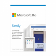 Microsoft 365 Family 6GQ-01158 Up to 6 People, License term 1 year(s), Latvian, Medialess, P6  91,00