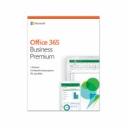 Microsoft KLQ-00388 Office 365 Business Premium Retail, 1 year, Full packaged product (FPP), English, Medialess box  134,00