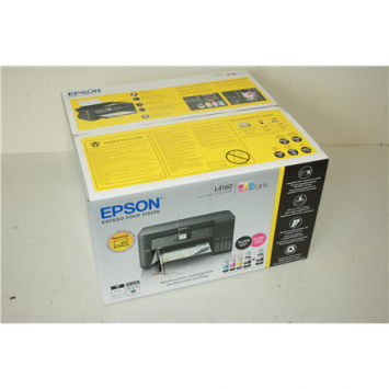 SALE OUT. Epson L4160 Wi-Fi Duplex All-in-One Ink Tank Printer Epson All-in-One Ink Tank Printer   L4160  Colour, Inkjet, Cartridge-free printing, A4, Wi-Fi, Black, DAMAGED PACKAGING