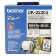Brother DK-22205 Continuous Length Paper Label White, DK, 30.5 m  16,00