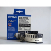 Brother DK-22211 Continuous Length Paper Label Black, White, DK, 29mm, 15.24 m  20,00