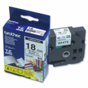 Brother TZ-241 Laminated Tape Black on White, TZe, 8 m, 1.8 cm  16,00