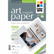 ColorWay ART Matte Magnetic Photo Paper, 5 Sheets, A4, White, 650 g/m²  8,00