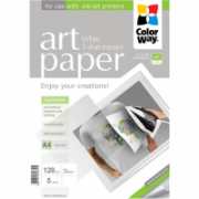 ColorWay ART Photo Paper T-shirt transfer (white), 5 sheets, A4, 120 g/m²  8,00