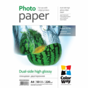 ColorWay High Glossy dual-side Photo Paper, 50 sheets, A4, 220 g/m²  10,00