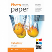 ColorWay High Glossy Photo Paper, 100 sheets, A4, 200 g/m²  15,00