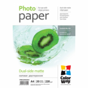 ColorWay Matte Dual-Side Photo Paper, 20 sheets, A4, 220 g/m²  5,00