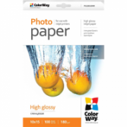 ColorWay Photo Paper 100 pc. PG1801004R Glossy, 10 x 15 cm, 180 g/m²  6,00