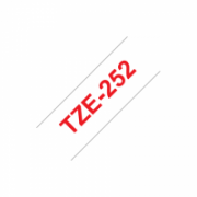 Brother TZe-252 Laminated Tape Red on White, TZe, 2.4 cm, 8 m  20,00