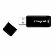 Integral USB 16GB Black, USB 2.0 with removable cap  6,00