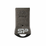 SILICON POWER 4GB, USB 2.0 FLASH DRIVE TOUCH T01,Black  10,00