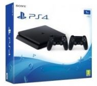 PS4 1TB D Chassis Black SLIM + 2 x Dualshock controller V2  371,00