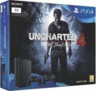 PS4 Slim 1TB + Uncharted 4: A Thief's End + 2nd Controller  391,00