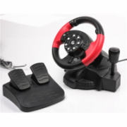 Gembird Multi-interface vibrating racing wheel with built-in vibration, foot pedals and gear stick (PC/PS2/PS3)  38,00